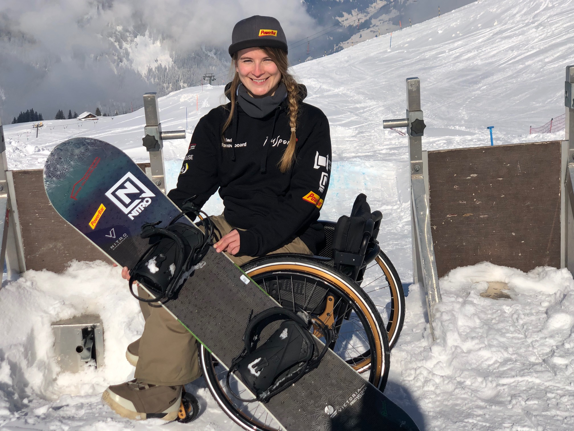 Trading the wheelchair for her snowboard - Geigele Communications